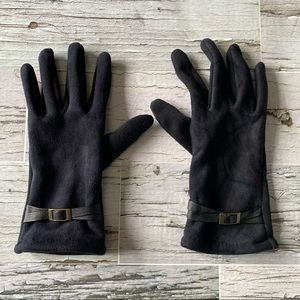 Microsuede stretch gloves with touch screen points